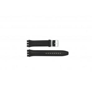 Correa de reloj Swatch (alt.) 51643.01.17 Cuero Negro 17mm