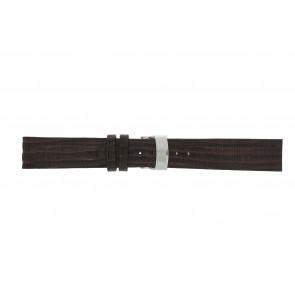 Elysee correa de reloj Ely.02 Cuero Marrón oscuro 20mm + costura marrón