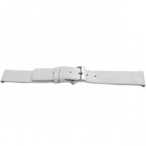 Correa de reloj Universal F520 Cuero Blanco 18mm