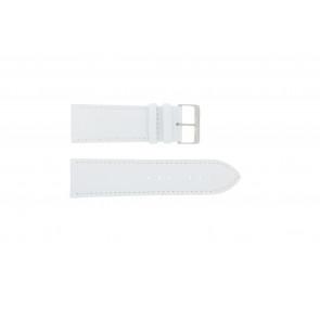 Correa de reloj de cuero genuino color blanco 30mm