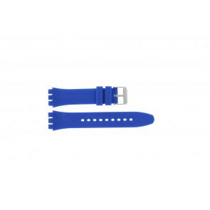 Tzevelion correa de reloj Tzev-SW Silicona Azul  18mm