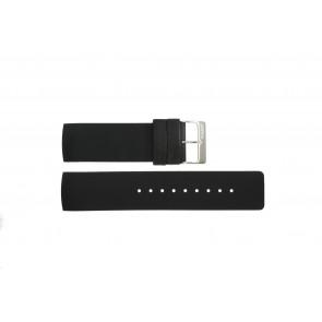 Correa de reloj Obaku V118L Caucho Negro 24mm