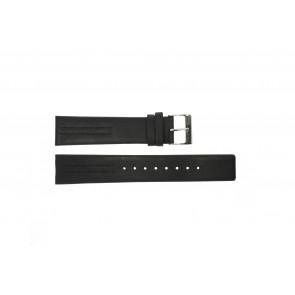Correa de reloj Obaku V122 Cuero Negro 20mm