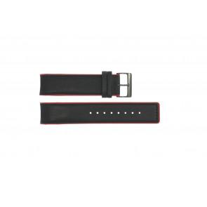 Correa de reloj Obaku V141 Cuero Negro 22mm