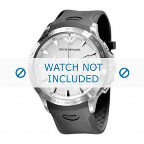 Correa de reloj Armani AR0634 / AR0631 Silicona Negro 23mm