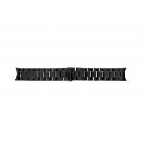 Armani correa de reloj AR-1400 Cerámica Negro 22mm