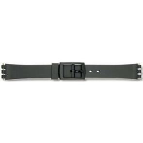 Swatch correa de reloj P38 Caucho / plástico Negro 12mm