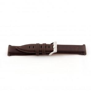 Correa de reloj de cuero genuino para relojes color marrón medio 22mm EX-G119