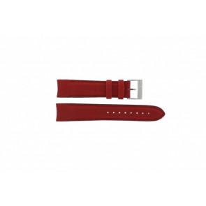 Nautica correa de reloj A24515G / N16532 Piel Rojo 22mm