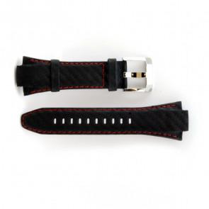 Correa de reloj de cuero genuino con costuras rojas Seiko 7T62-0ED0 SNA633P1