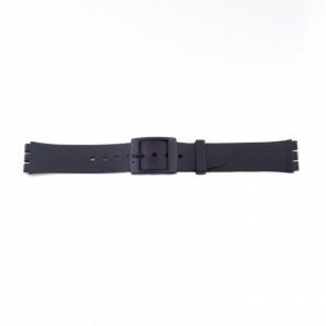 Correa de reloj Swatch (alt.) P51 Plástico Negro 17mm