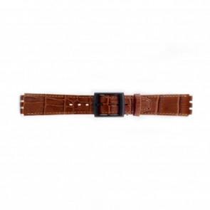 Correa de reloj Swatch (alt.) SC16.03 Cuero Marrón 16mm